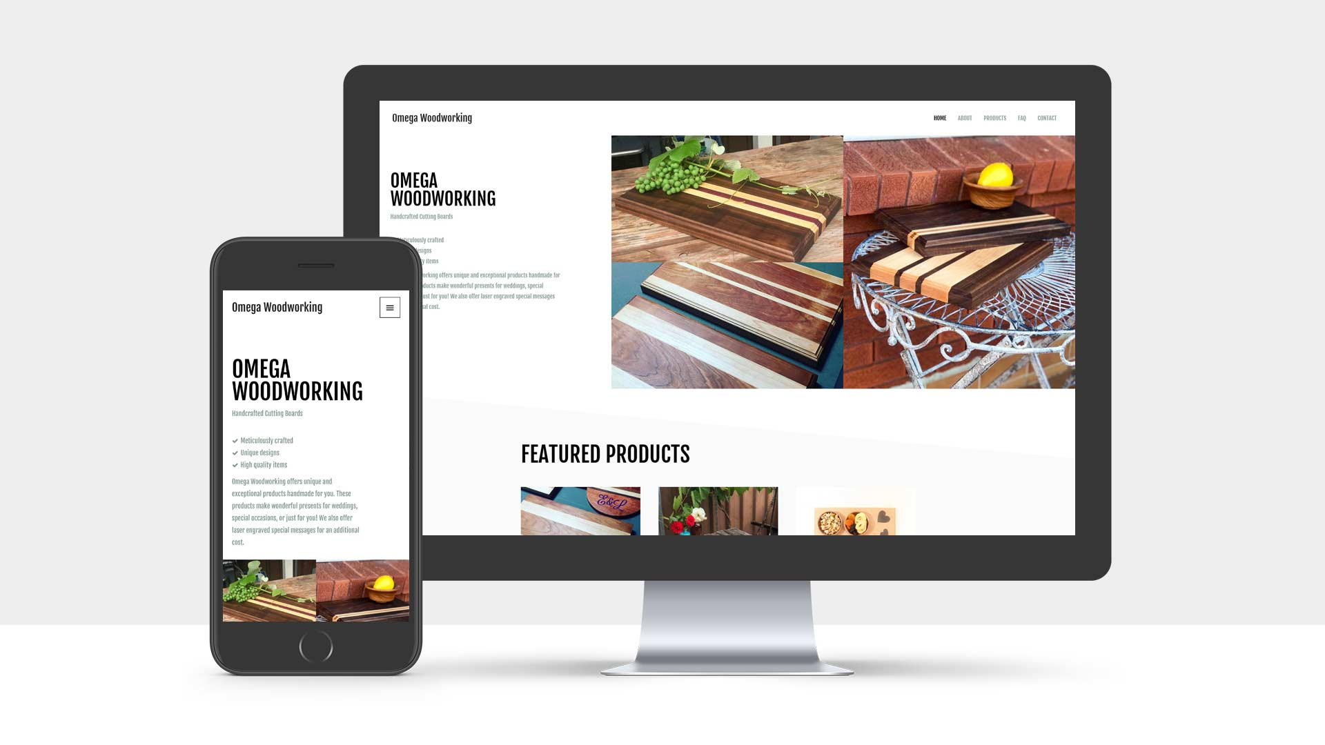 Web Design Portfolio: Omega Woodworking