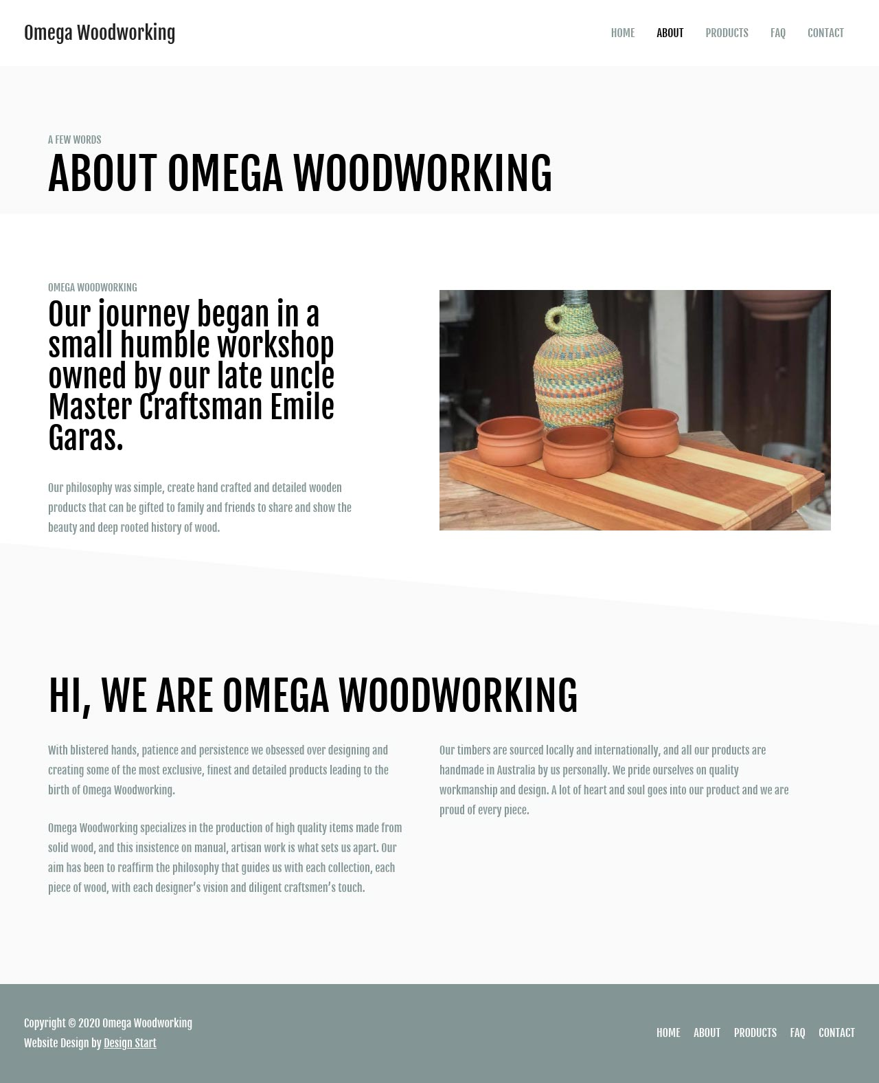 Web Design Services Portfolio: Omega Woodworking