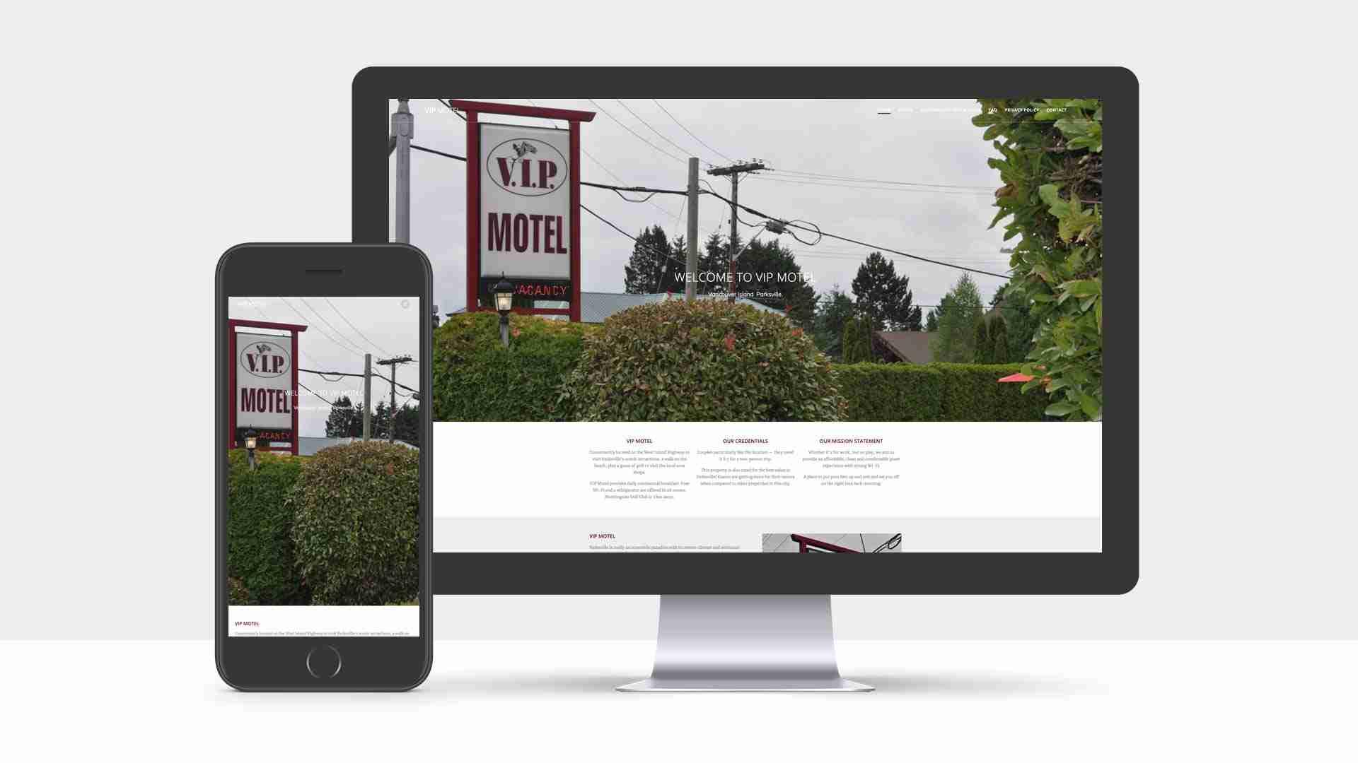 Web Design for V.I.P Motel