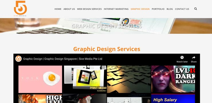 Graphic Design Agency Singapore: 5iveMedia