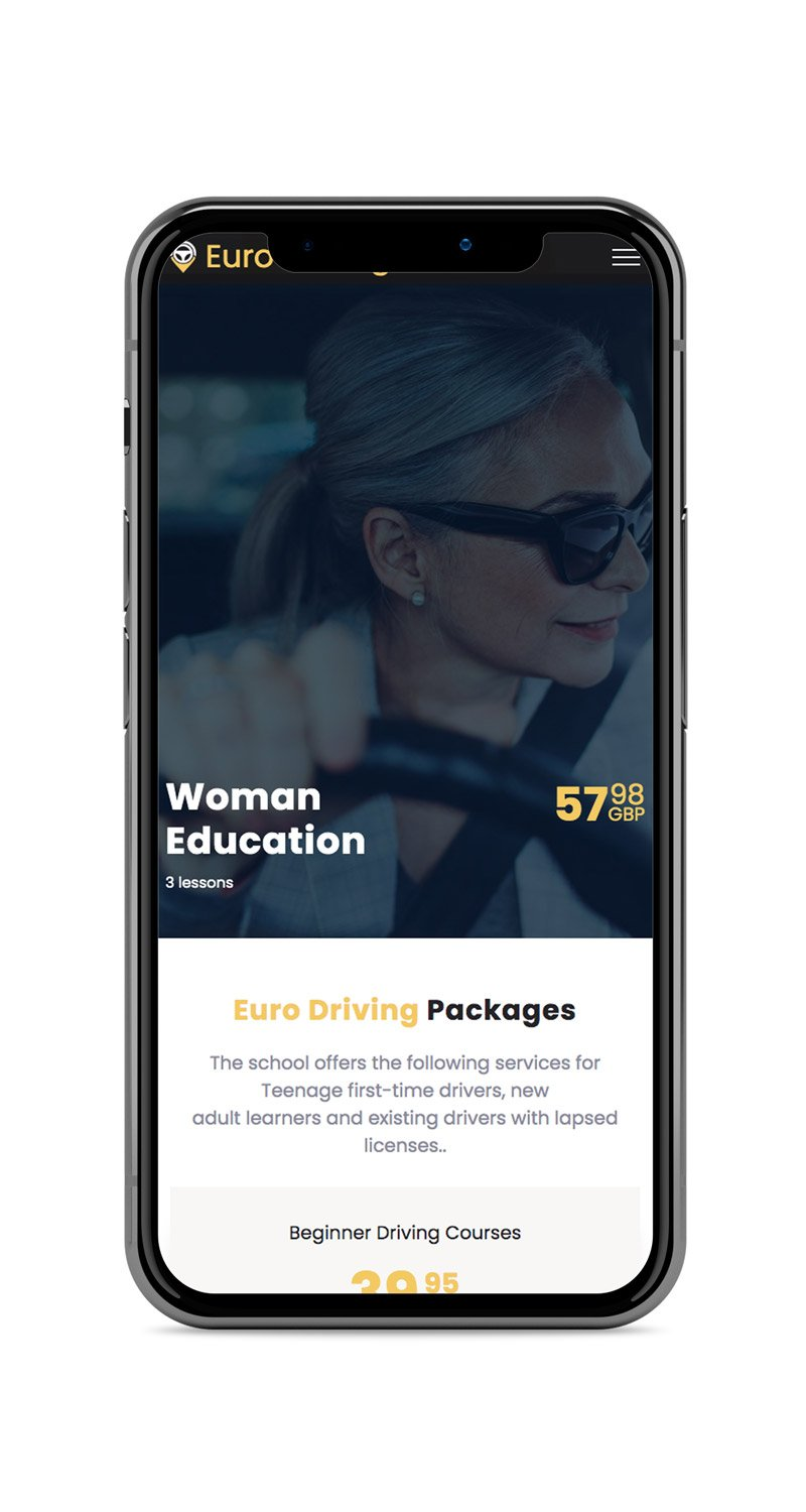 Mobile Friendly Website: Euro Driving