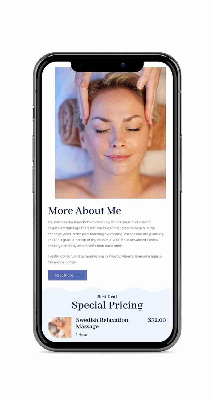 Mobile Responsive Website: Celtic Knot Massage