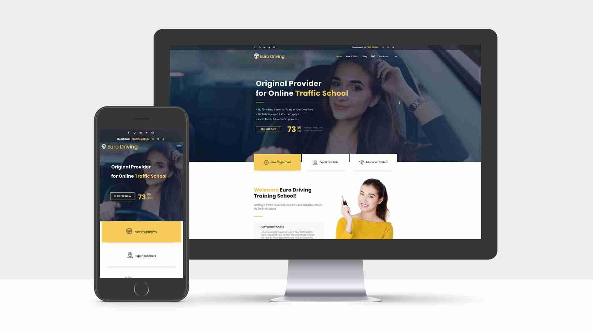 Web Design Portfolio: Euro Driving