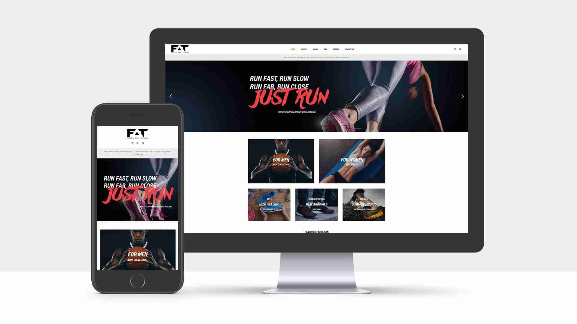 Web Design Portfolio: Fitness and Training