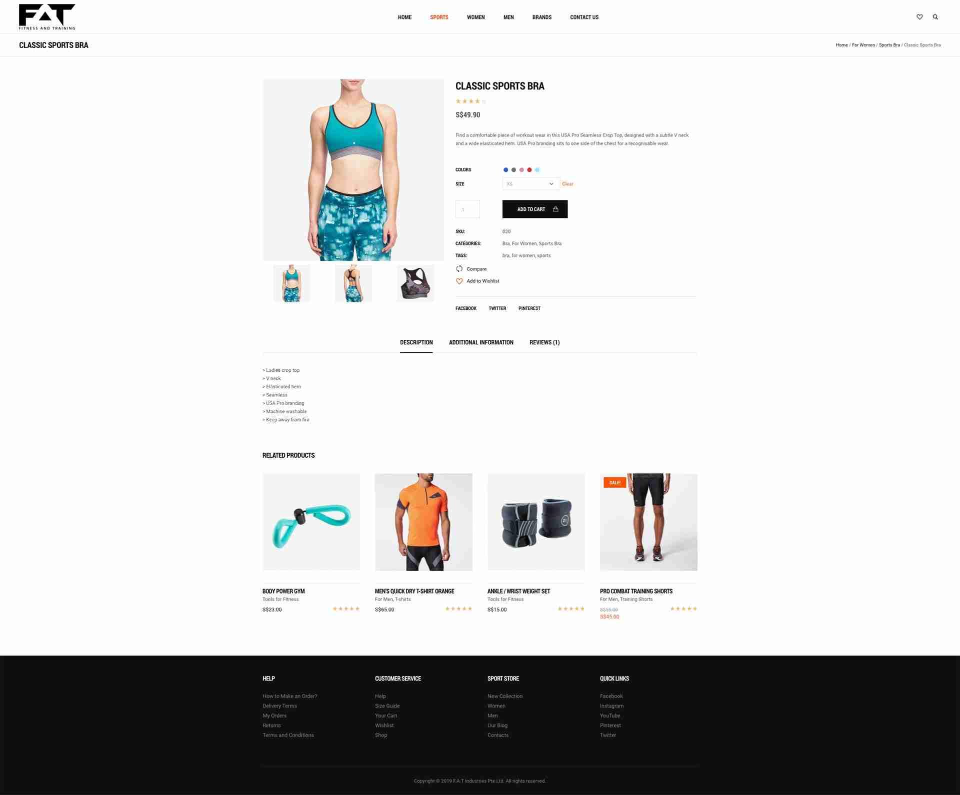 Web Development: Fitness and Training