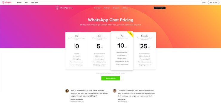 Website Chat Widget: Elfsight WhatsApp Chat