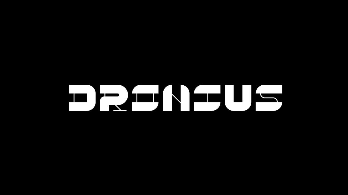 Dronius White Logo