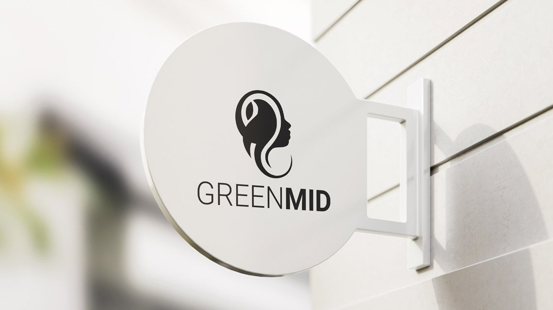GreenMid Logo Sign