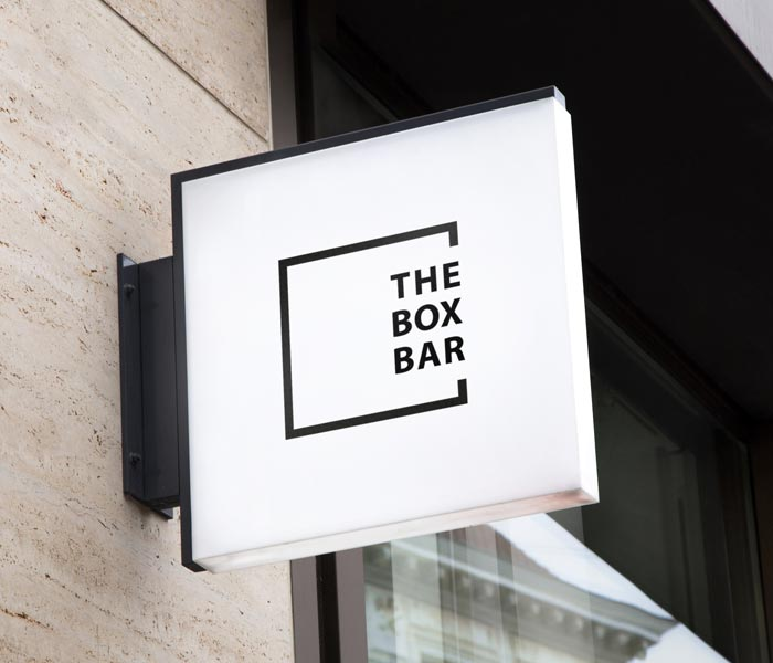 Logo Design Work: The Box Bar