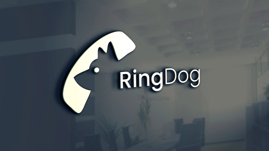 RingDog Logo Sign