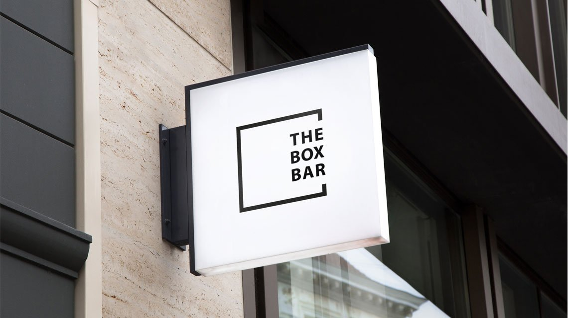 The Box Bar Logo Sign