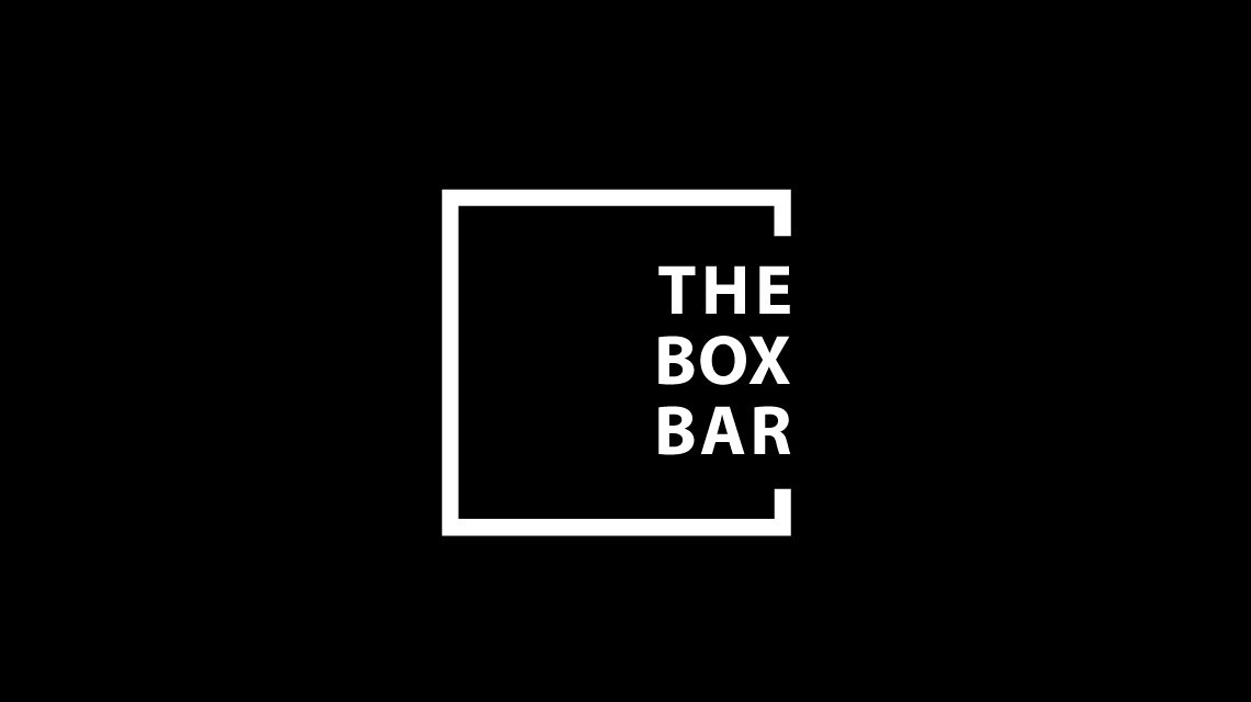 The Box Bar Logo White