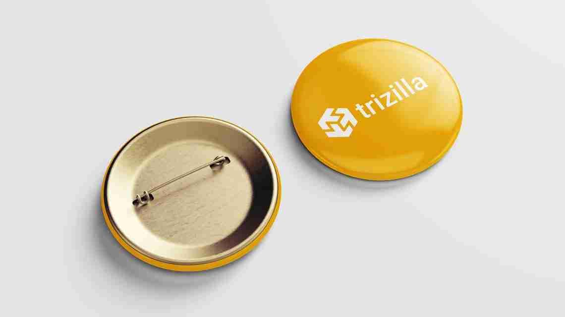 Trizilla Logo Pin