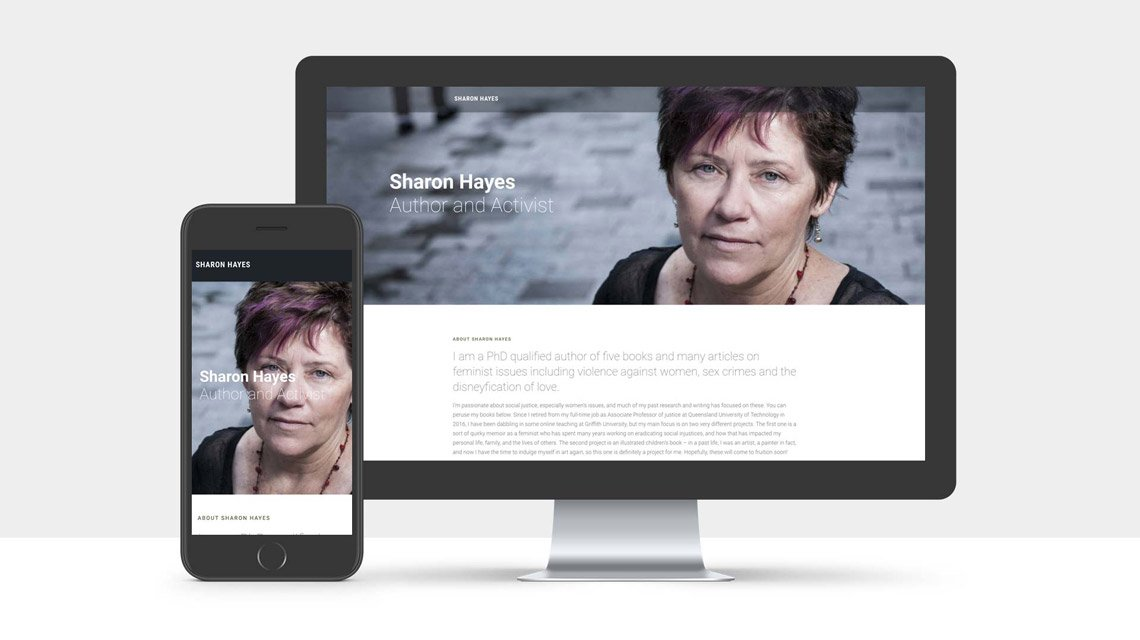 Landing Page Design for Sharon Hayes