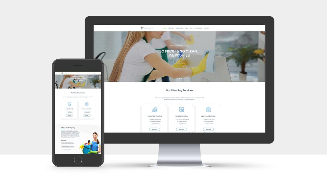Website Design for Michelle Cleaning