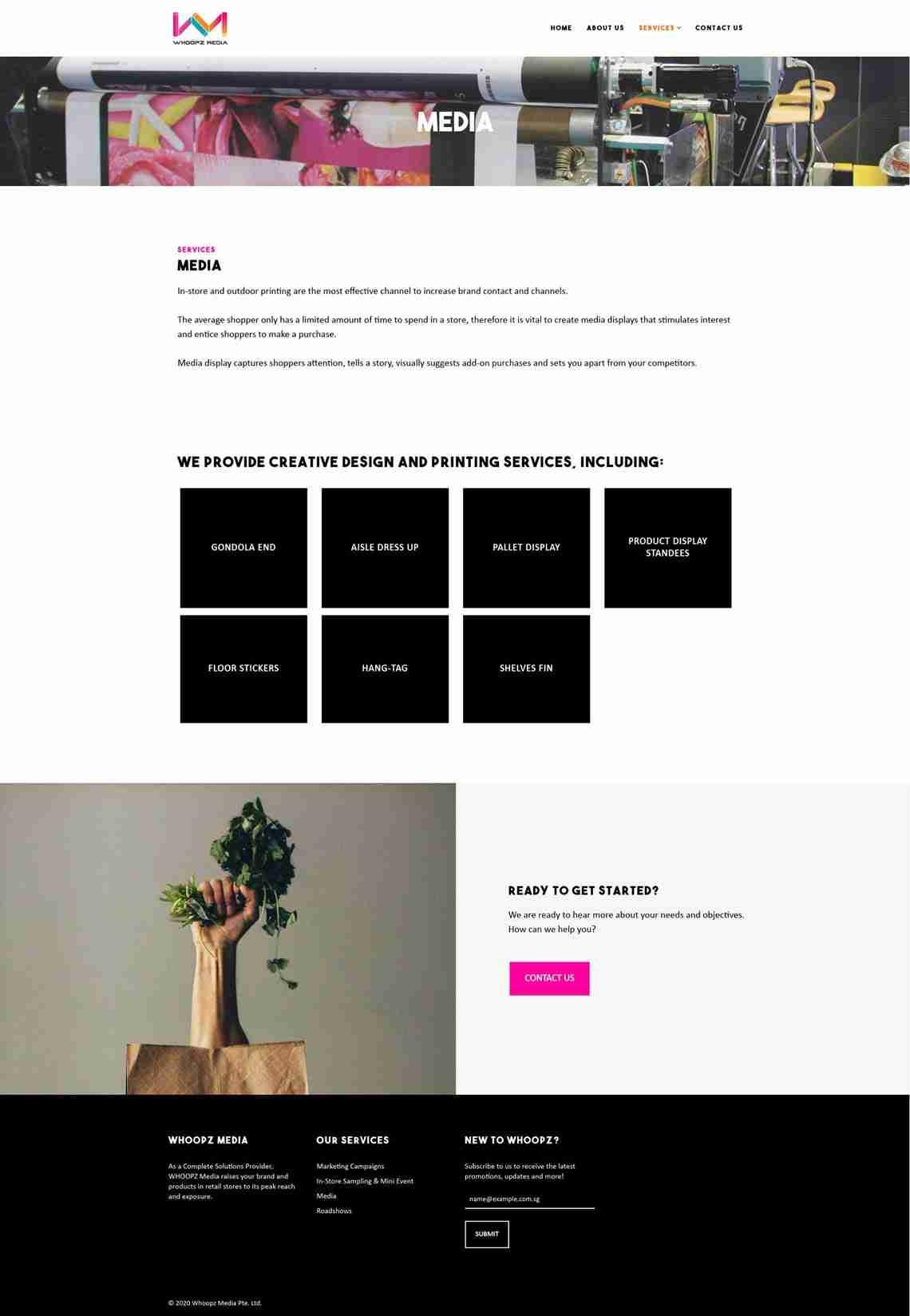 website design services for Whoopz Media