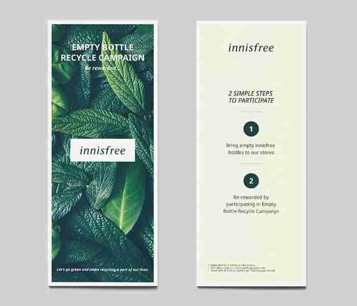 brochure design for Innisfree