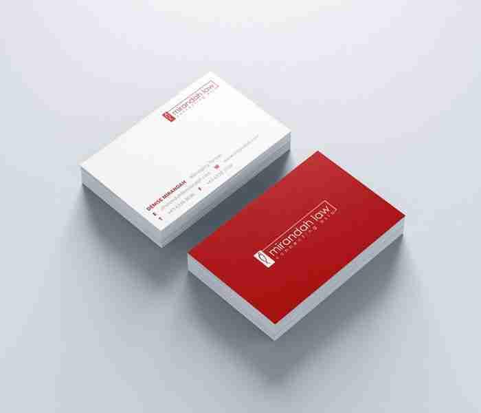 Name Card Design for Mirandah Law