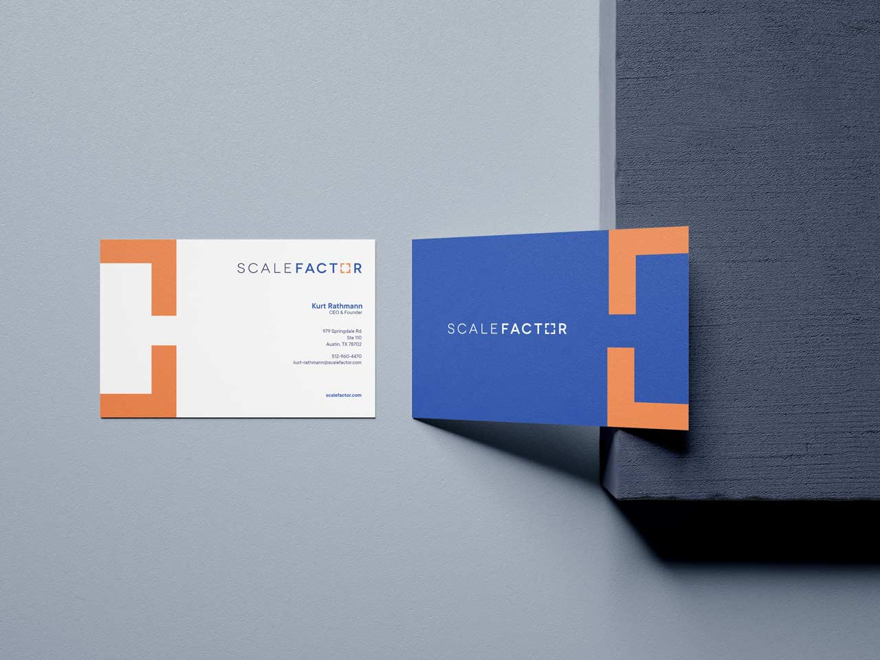 Name Card Design for ScaleFactor