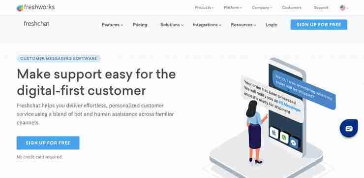 Chat Widget for Website: Freshworks