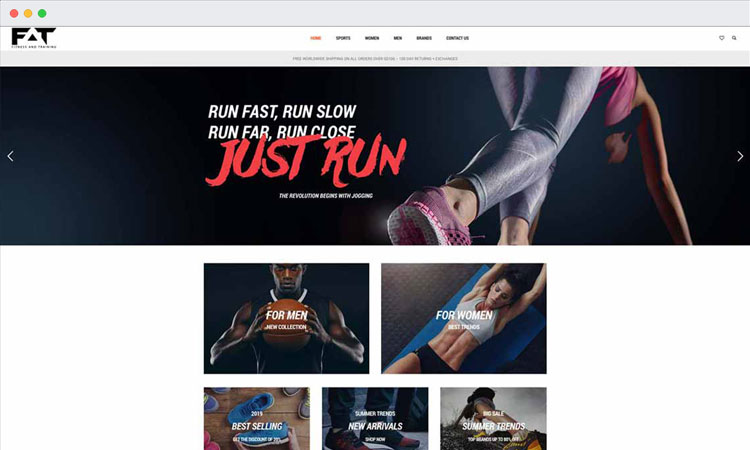 eCommerce Website Design: Fitness and Training