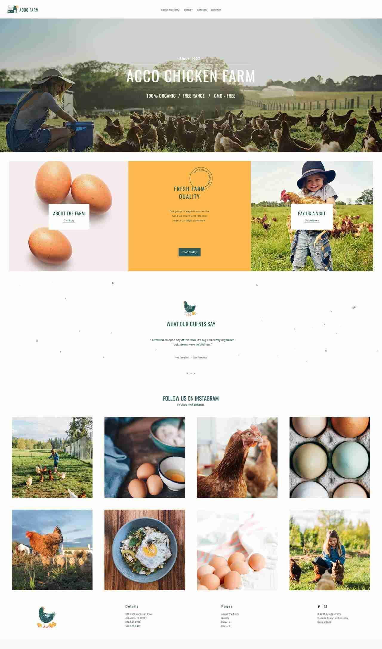 Home Page Design for Acco Farm
