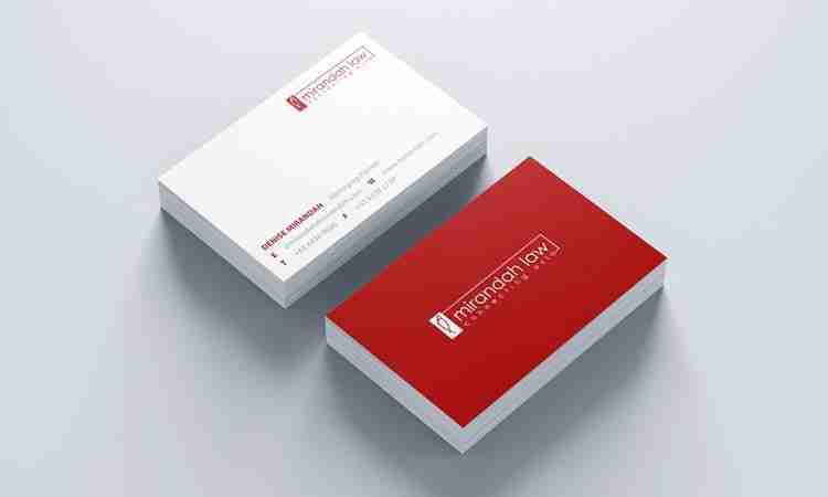 Name Card Design: Mirandah Law