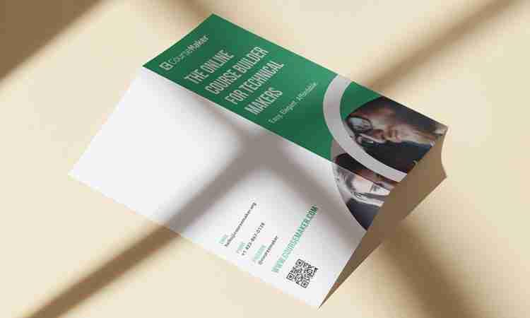 Tri-Fold Brochure Design: CourseMaker
