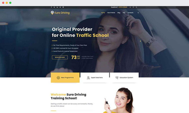 Website Design: Euro Driving
