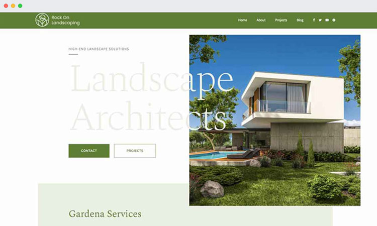 Website Design: Rock On Landscaping