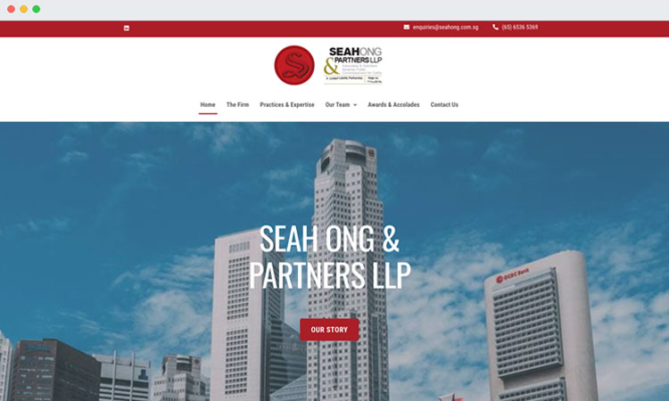 Website Redesign: Seah Ong & Partners LLP