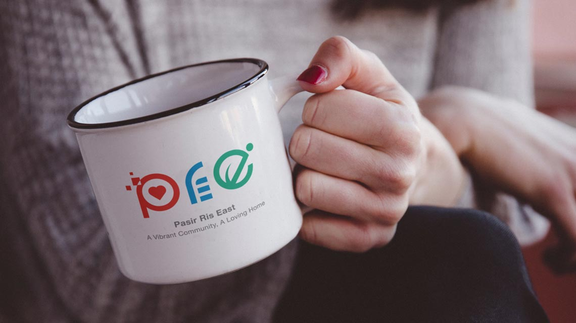 Pasir Ris East Community Club Logo on Mug